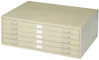 Safco 5-Drawer Stackable Steel Flat Files